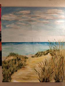 Blokhus strand på gardin 3